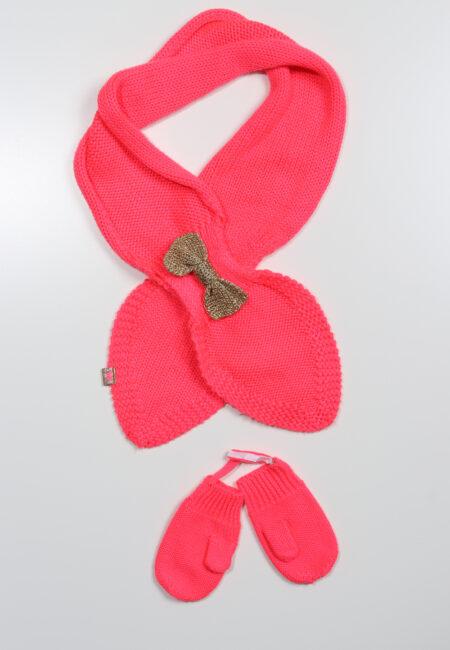 Fluo roze sjaal en wanten, Billieblush, T1