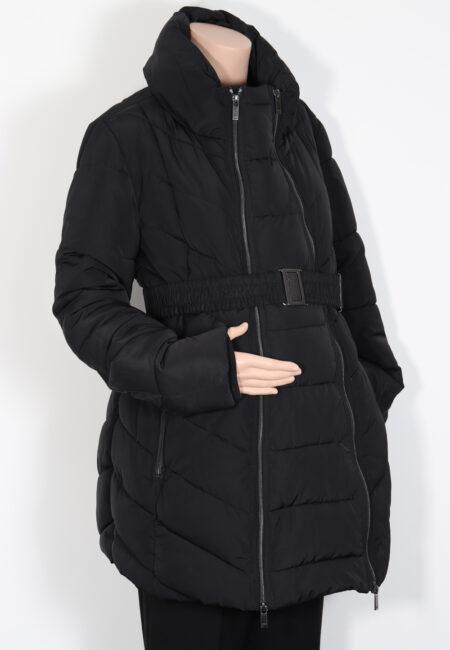 Zwarte jas, noppies, M