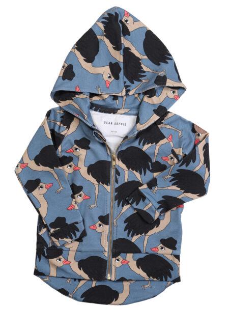 Blauwe struisvogelhoodie, DS, 86