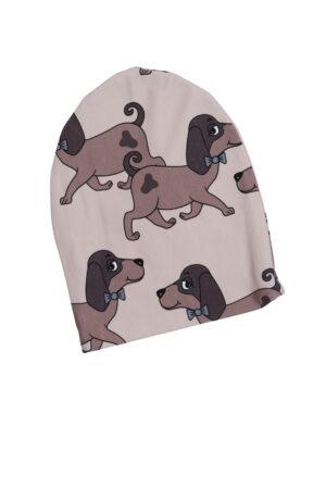 Bruine hondjes-beanie, DS, 86