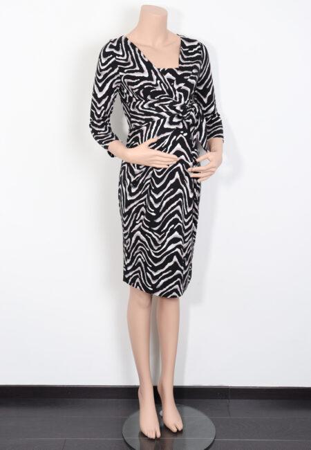 Zwart-wit kleedje, 9fashion, S