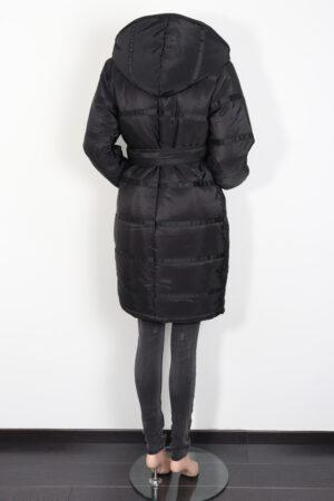 Zwarte winterjas, 9fashion, S