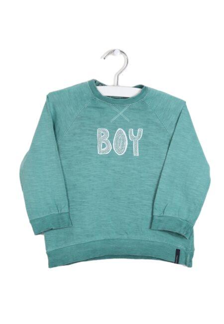 Groene sweater, Noppies, 80