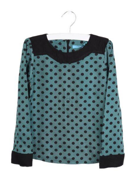 Groen-zwart bloesje, F&G, 104