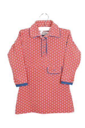 Bruin-blauw kleedje, 4FF, 86