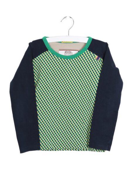 Groen-blauwe longsleeve, 4FF, 110