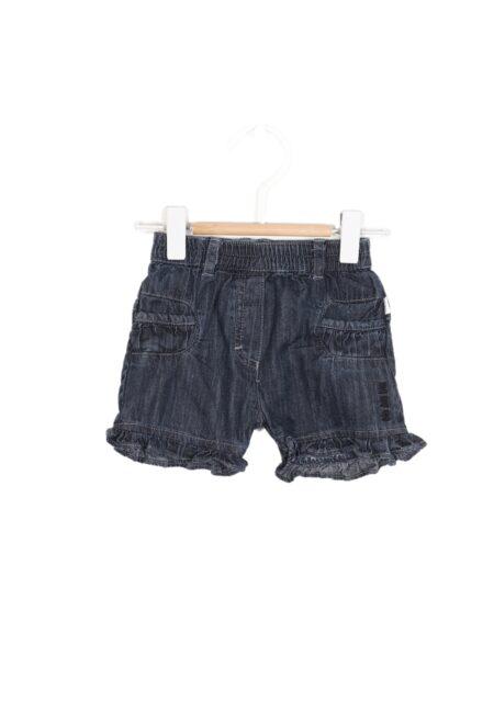 Donkerblauw jeansshortje, BBB, 62