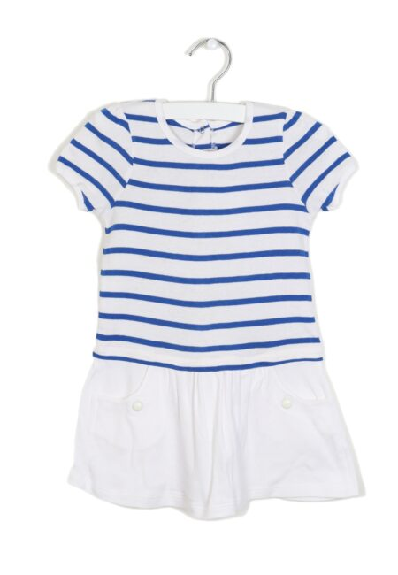 Wit-blauw kleedje, PB, 80