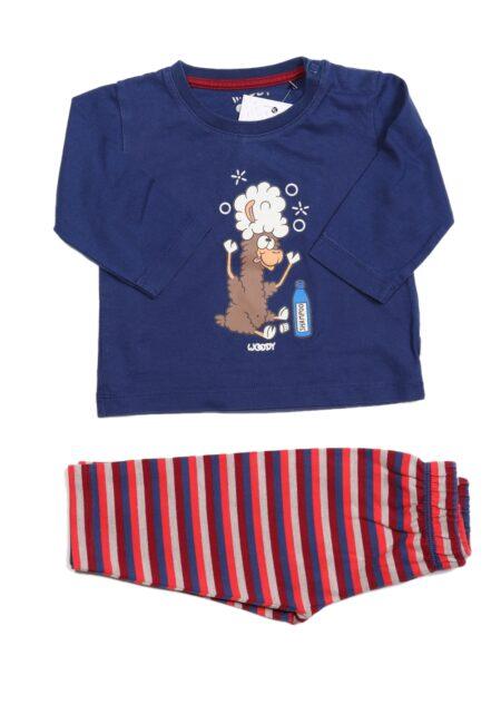 Blauw-rode pyjama, Woody, 62