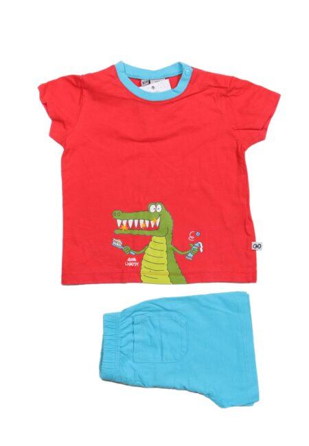 Rood-turquoise pyjama, Woody, 80