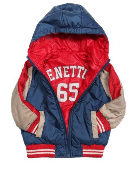 Blauw-rood jasje, Benetton, 92