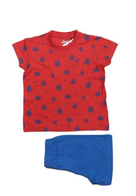 Rood-blauwe pyjama, Woody, 92