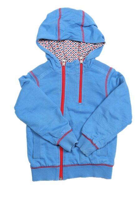 Blauwe hoodiegilet, F&G, 98