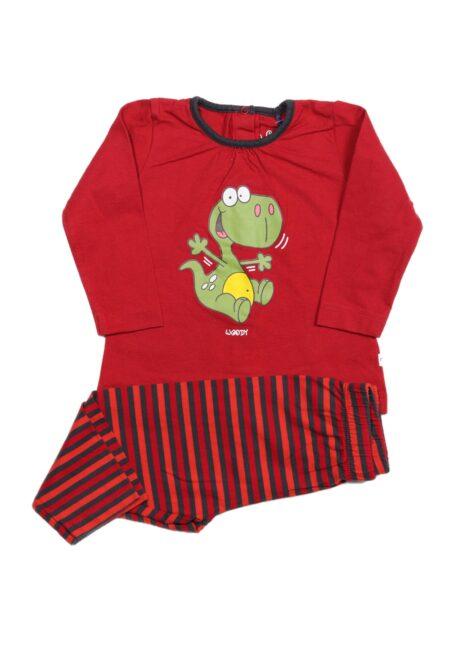 Rood-grijs pyjamaatje, Woody, 68