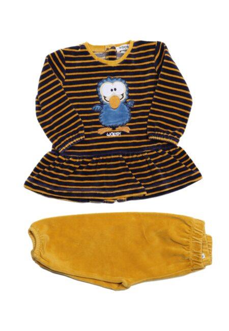 Oker-blauwe pyjama, Woody, 74