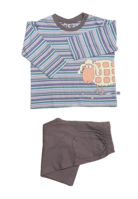 Taupe-paarse pyjama, Woody, 74