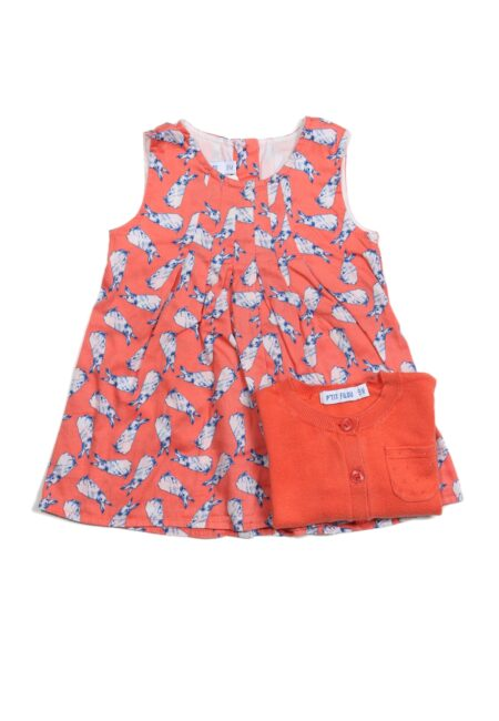 Koraalroze kleedje, PF, 74