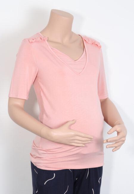 Zalmroze t-shirtje, Mamalicious, M