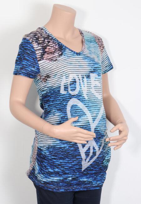 Blauw t-shirtje, L2W, M