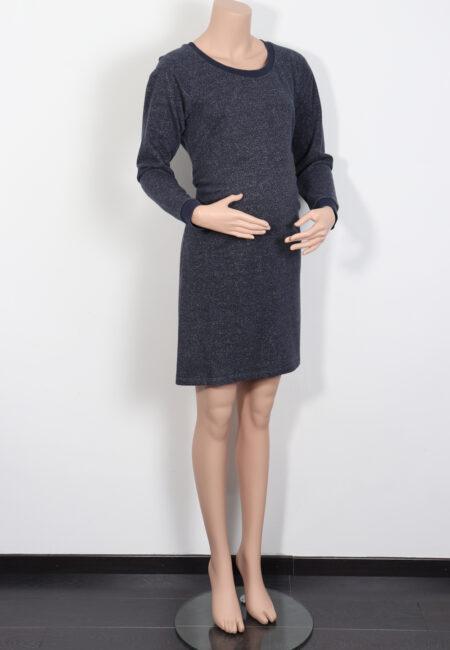 Blauw sweaterkleedje, Mamalicious, M