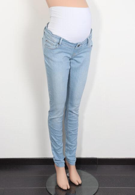Lichtblauwe jeansbroek, Queen Mum, XS