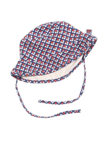 Rood-blauw hoedje, F&D, 68
