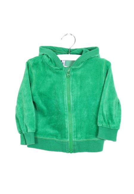 Grasgroene hoodiegilet, Maxomorra, 74