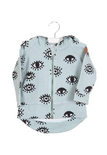 Licht turquoise hoodiegilet, Dear Sophie, 74