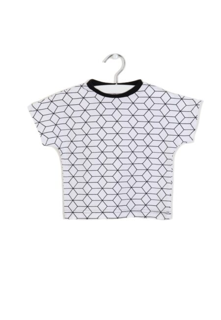 Wit-zwart t-shirtje, Selfmade, 80