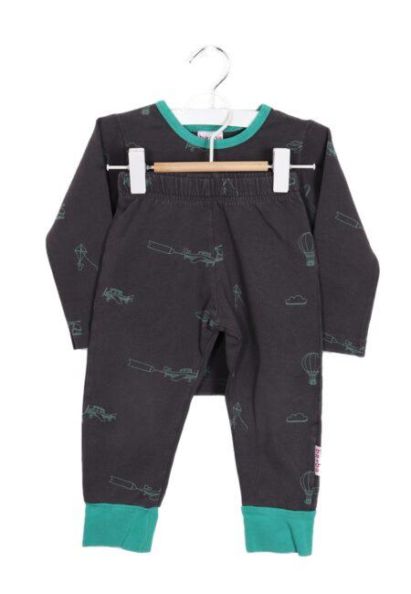 Grijs-groene pyjama, Ba*Ba, 86