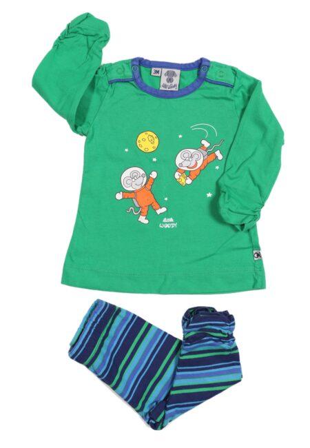 Groene pyjama, Woody, 62
