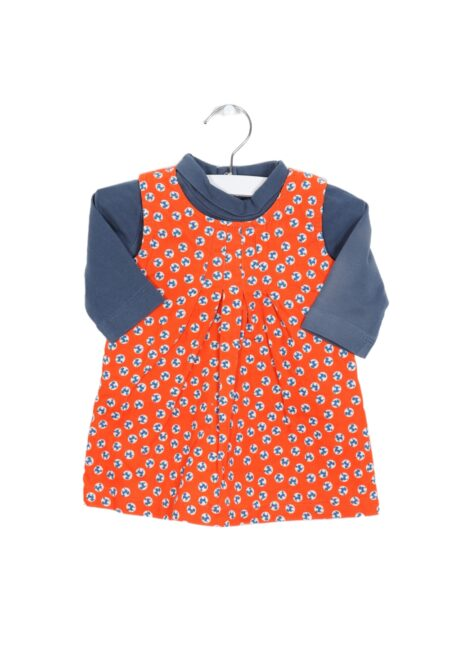 Oranje-blauw kleedje, PF, 62