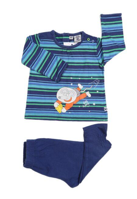 Blauw-groene pyjama, Woody, 68
