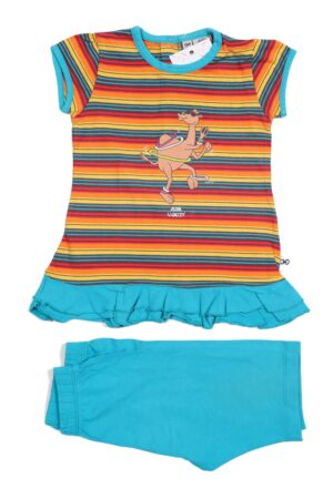 Turquoise-gekleurde pyjama, Woody, 74