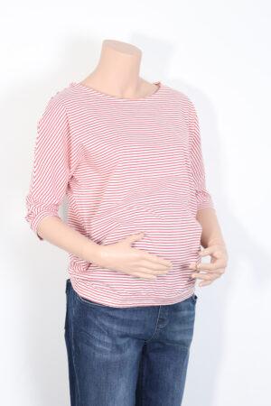 Rood-wit t-shirtje, Fragile, S